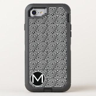 Schwarzes Tribangle Monogramm OtterBox Defender iPhone 7 Hülle