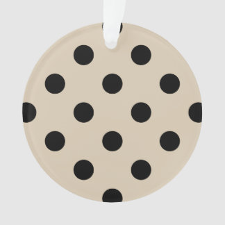Schwarzes Tupfen-Muster - TAN Ornament