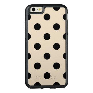 Schwarzes Tupfen-Muster - TAN OtterBox iPhone 6/6s Plus Hülle