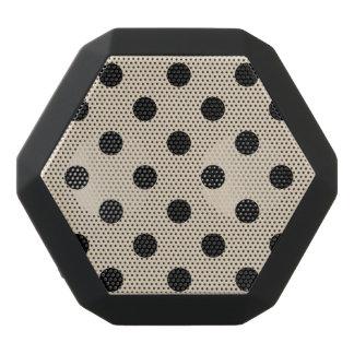 Schwarzes Tupfen-Muster - TAN Schwarze Bluetooth Lautsprecher