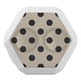Schwarzes Tupfen-Muster - TAN Weiße Bluetooth Lautsprecher