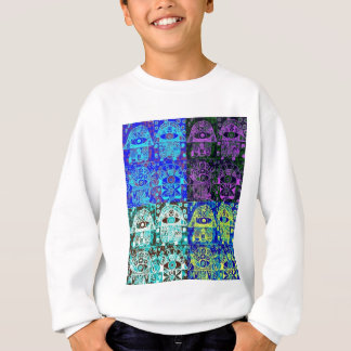 Schwarzes u. blaues Hamsa Sweatshirt