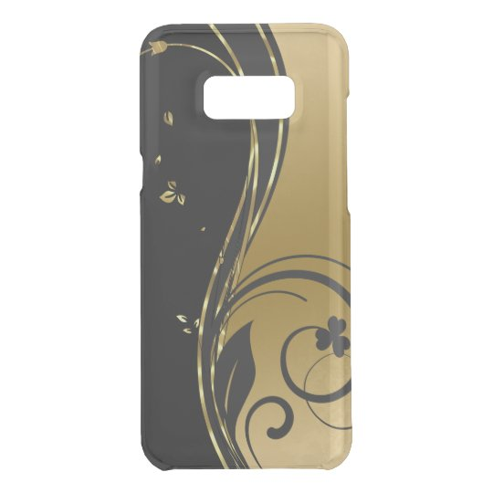 Schwarzes u. elegantes GoldblumenWirbels-Entwurf Get Uncommon Samsung Galaxy S8 Plus Hülle