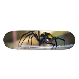 Schwarzes u. gelbes 18,7 cm mini skateboard deck
