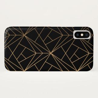 Schwarzes u. Gold iPhone X Hülle