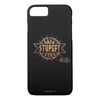 Schwarzes u. Gold Stupefy Bann-Grafik iPhone 8/7 Hülle