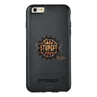 Schwarzes u. Gold Stupefy Bann-Grafik OtterBox iPhone 6/6s Plus Hülle