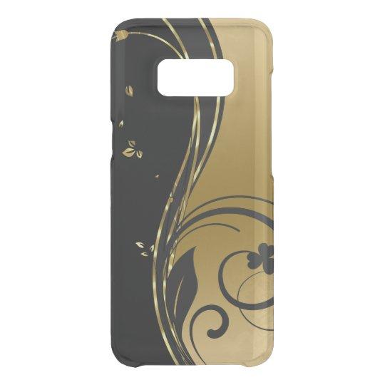 Schwarzes u. GoldblumenWirbels-Entwurf Get Uncommon Samsung Galaxy S8 Hülle