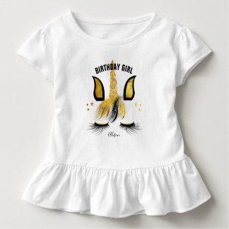 Schwarzes u. GoldEinhorn Kleinkind T-shirt