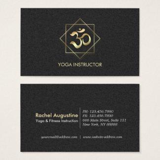 Schwarzes u. GoldOM-Symbol-Yoga-Meditations-Lehrer Visitenkarte
