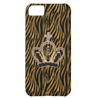Schwarzes u. Goldzebra-Prinzessin iPhone 5 Fall iPhone 5C Hülle