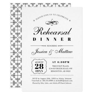Schwarzes u. Hochzeits-Proben-Abendessen des Karte