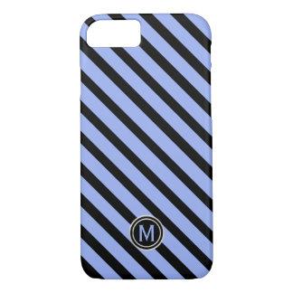 Schwarzes u. Singrün-blaues diagonales iPhone 8/7 Hülle