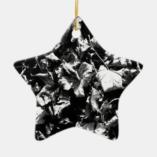 Schwarzes u. Weiß-Blätter Keramik Ornament