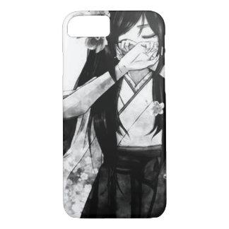 Schwarzes u. weißes Anime-Samurai-Mädchen iPhone iPhone 8/7 Hülle