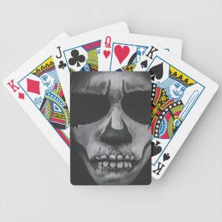 Schwarzes u. weißes beängstigendes Gesicht… Bicycle Spielkarten