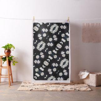 Schwarzes u. weißes Blumen Stoff