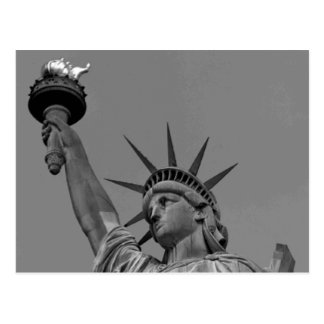 Schwarzes u. weißes Freiheitsstatue New York Postkarte