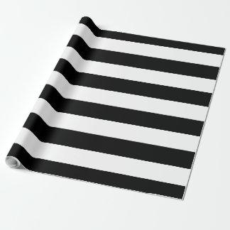Schwarzes u. weißes großes gestreiftes | geschenkpapier