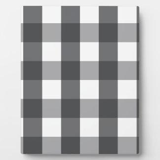 Schwarzes u. weißes kariertes fotoplatte