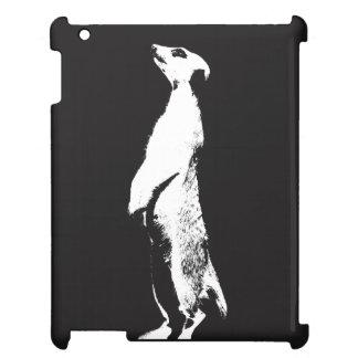Schwarzes u. weißes Meerkat - recht - iPad Fall Hülle Für iPad