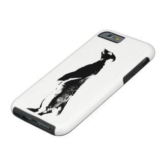 Schwarzes u. weißes Meerkat - recht - rufen Sie Tough iPhone 6 Hülle