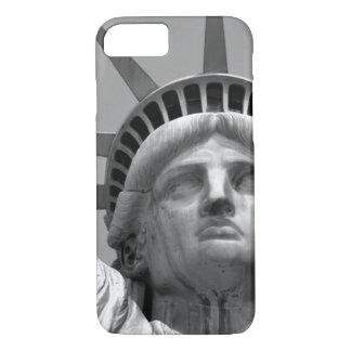 Schwarzes u. weißes Nahaufnahme-Freiheitsstatue iPhone 8/7 Hülle