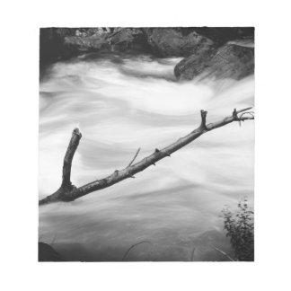 Schwarzes u. weißes Natur-Foto Notizblock