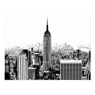Schwarzes u. weißes New York City Postkarte
