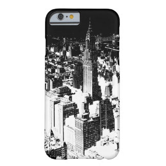 Schwarzes u. weißes New York Barely There iPhone 6 Hülle