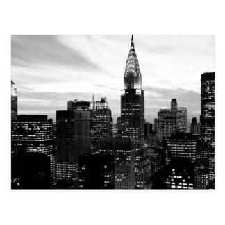 Schwarzes u. weißes New York Postkarte