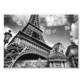 Schwarzes u. weißes Paris Fotodruck