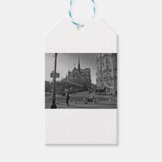 Schwarzes u. weißes Paris Notre Dame Geschenkanhänger