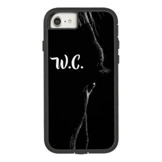 Schwarzes u. weißes PferdeSilhouette Case-Mate Tough Extreme iPhone 8/7 Hülle