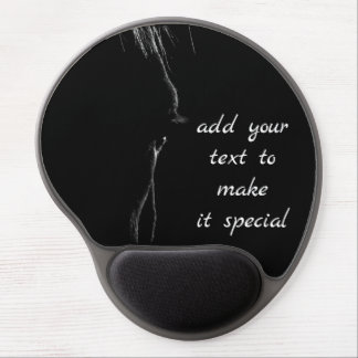 Schwarzes u. weißes PferdeSilhouette Gel Mousepad