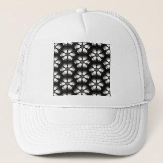 Schwarzes u. weißes Schein-Blumen-Muster Truckerkappe