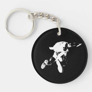 Schwarzes u. weißes Skydiving Schlüsselanhänger