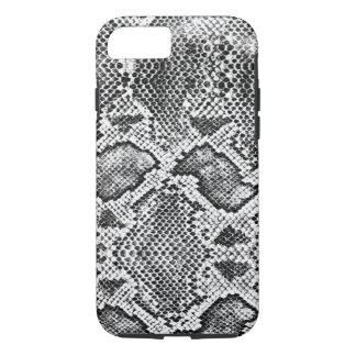 Schwarzes u. weißes Snakeskin Muster iPhone 8/7 Hülle
