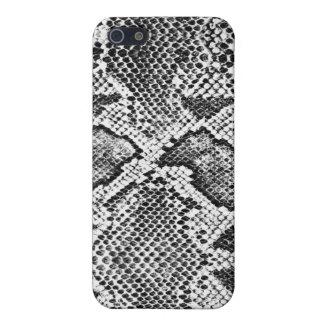 Schwarzes u weißes Snakeskin Muster Hülle Fürs iPhone 5