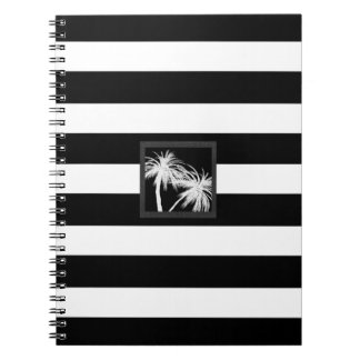 Schwarzes u. weißes tropisches Palme-modernes Chic Notizblock
