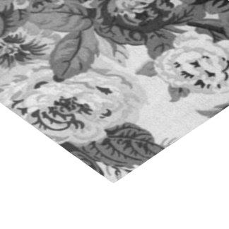 Schwarzes u. weißes Vintages BlumenToile No.3A Seidenpapier