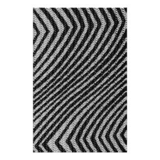 Schwarzes u. weißes Zickzack-Muster Bedrucktes Papier