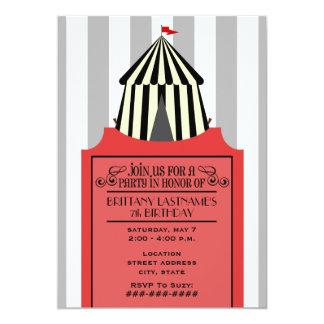 Schwarzes u. weißes Zirkus-Zelt mit rotem Individuelle Ankündigung