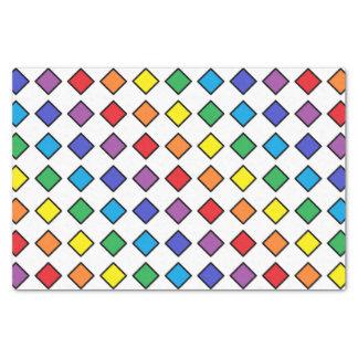Schwarzes umrissene Regenbogen-Diamanten Seidenpapier