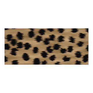 Schwarzes und Brown-Gepard-Druck-Muster 10,2 X 23,5 Cm Einladungskarte