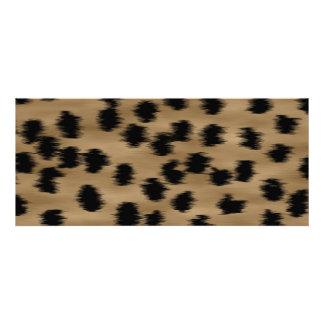 Schwarzes und Brown-Gepard-Druck-Muster Personalisierte Ankündigungskarte