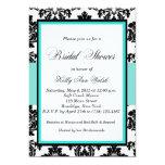 Schwarzes und Damast-Brautparty-Einladung