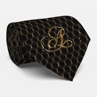 Schwarzes und die Krawatte der Goldmänner