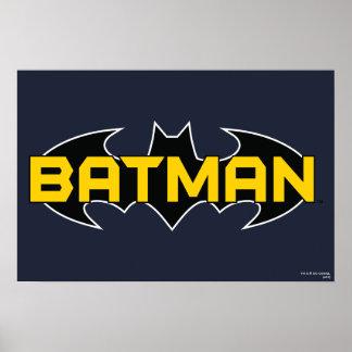 Schwarzes und gelbes Logo Batmans Posterdruck