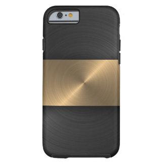 Schwarzes und Gold Tough iPhone 6 Hülle